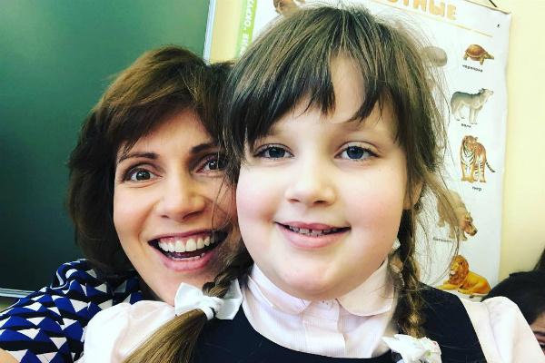 С дочерью Сашей