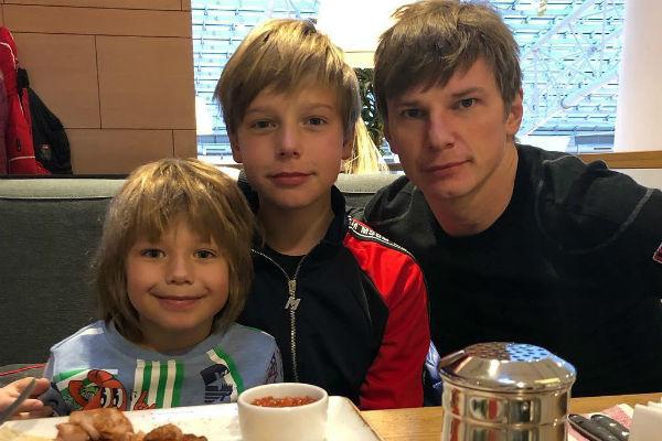 В январе Аршавин впервые за пять лет увиделся с детьми