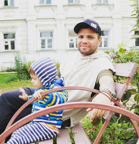 Роман Пашков с сыном