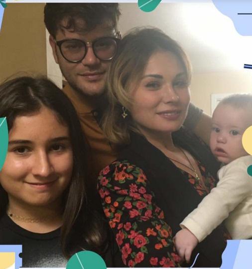 Анастасия Кочеткова с семьей