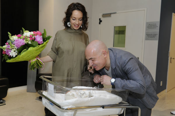 Супруга Евгения подарила Михаилу Грушевскому сына 21 мая 2015 года
