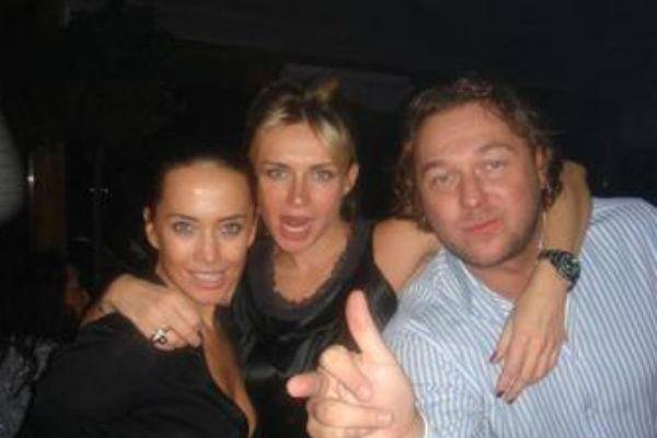 Жанна Фриске с подругой и Андреем Грозным