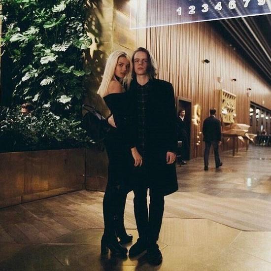 Алеся Кафельникова с Глебом Голубиным, более известным как рэпер Фараон