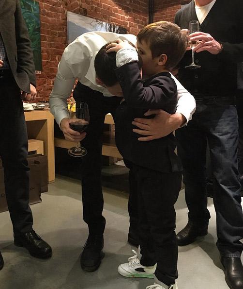 Сын Водонаевой Богдан с отцом, бизнесменом Алексеем Малакеевым