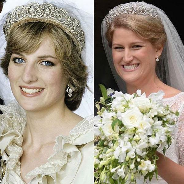 Поклонники сравнили свадебные образы принцессы Дианы и ее племянницы
