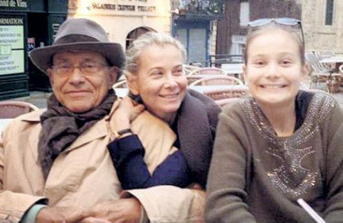 Андрей Кончаловский и Юлия Высоцкая с дочерью Машей