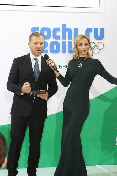 Петр Лидов и Татьяна Навка на Олимпиаде в Сочи