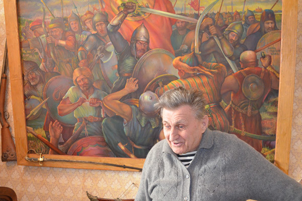 Крестник борца, художник Юрий Коротков