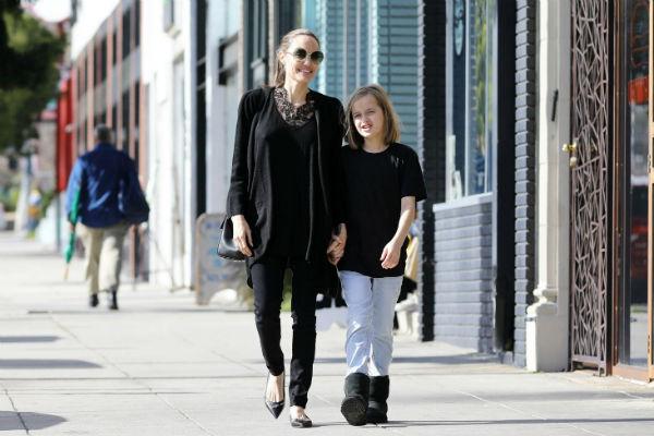 Анджелина Джоли с дочкой