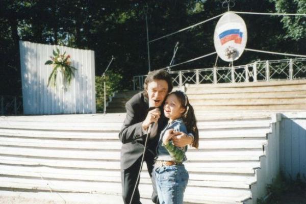 Михаил Луконин с дочкой
