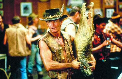Пол Хоган. Кадр из фильма «Данди по прозвищу «Крокодил»