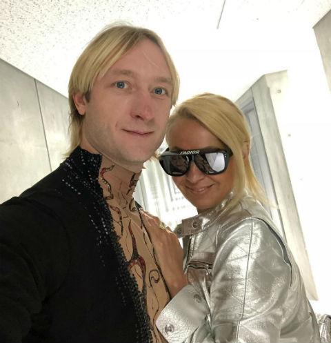 Евгений Плющенко и Яна Рудковская