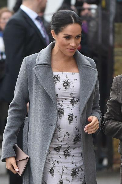 Меган Маркл находится на последних месяцах беременности