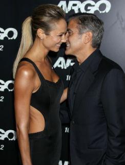 Стейси Киблер и Джордж Клуни