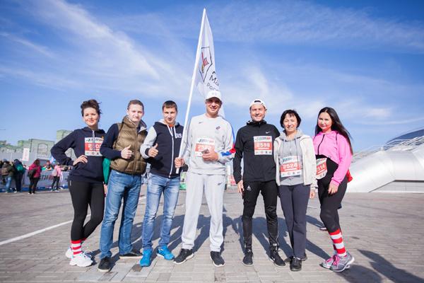 Команда «Дома Роналда Макдоналда» во время прошлогоднего Казанского марафона