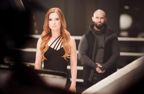 Юля Савичева и Джиган на съемках нового клипа