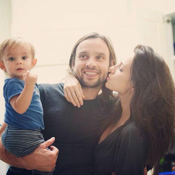 Певица с гражданским мужем Алексеем и сыном Миланом