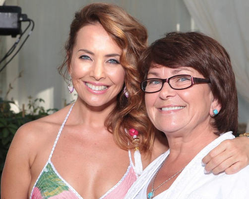 Жанна Фриске с мамой Ольгой Владимировной