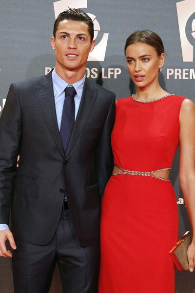 Криштиану Роналду и Ирина Шейк выглядели настолько безупречно, что их можно было принять за восковые фигуры