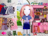 Кукла и вещи для нее сшиты вручную