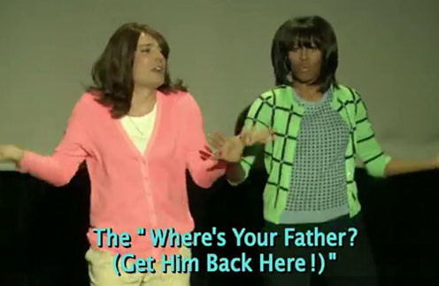 Кадр из видеоролика «Evolution of Mom Dancing»