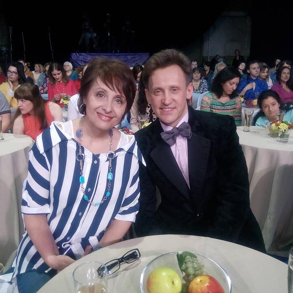 Сергей Дроботенко с подругой и коллегой Светланой Рожковой