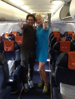 Наталья Рагозина и я летим на «Большие гонки»