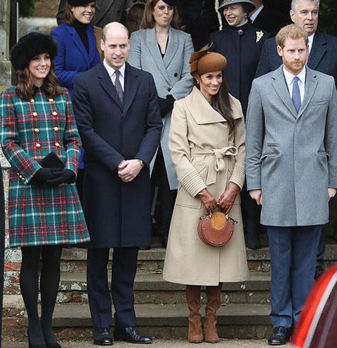 Кейт Миддлтон, принц Уильям, Меган Маркл и принц Гарри