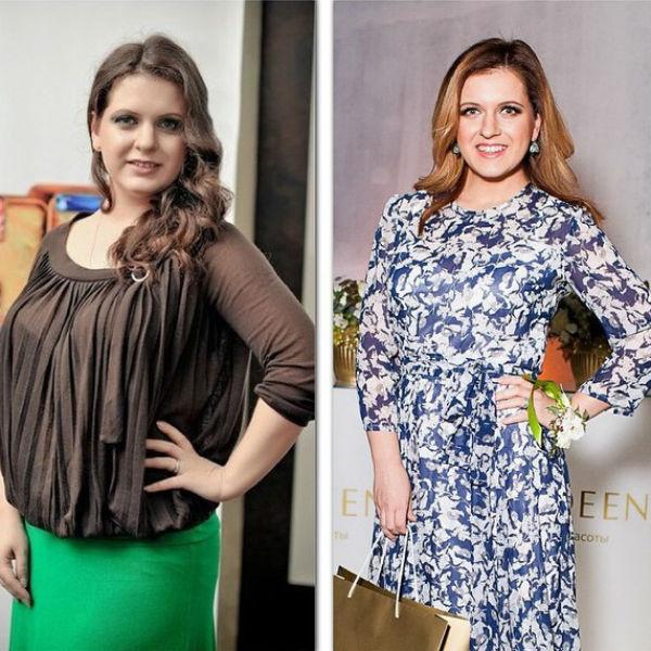 Денисова сама сделала коллаж из фотографий, на которых она изображена три года назад и сейчас