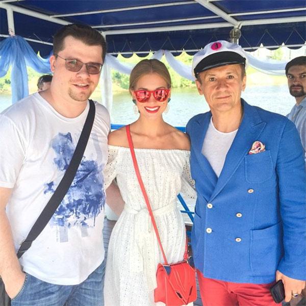 Кристина Асмус в компании двух мэтров – мужа Гарика Харламова и актера Олега Меньшикова