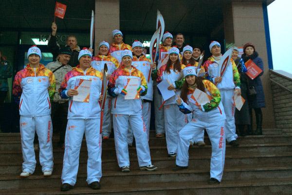 Участники эстафеты в Казани