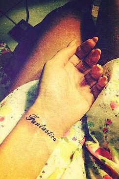 Новая татуировка Алены