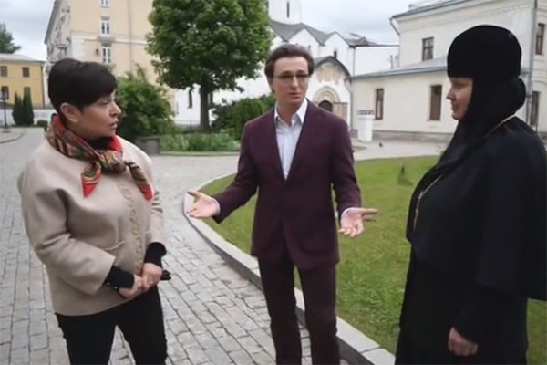 Сергей Безруков, Наташа Барбье и настоятельница Марфо-Мариинской обители