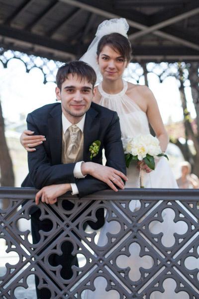 Сын Трахтенберга Сергей Семеной с женой