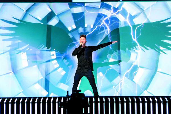 Сергей Лазарев на сцене с песней You Are the Only One