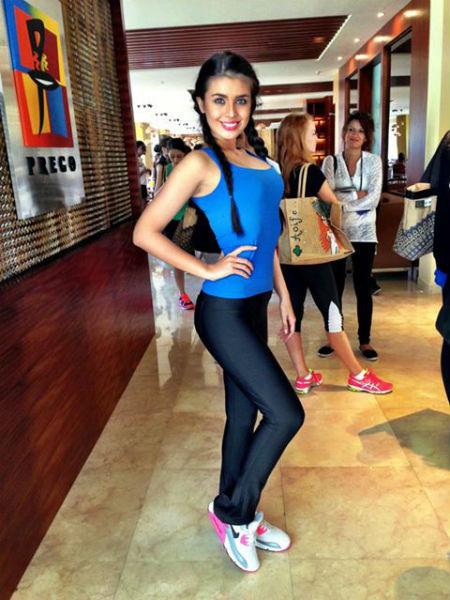 Абдразакова даже на Бали не забывает про занятия спортом