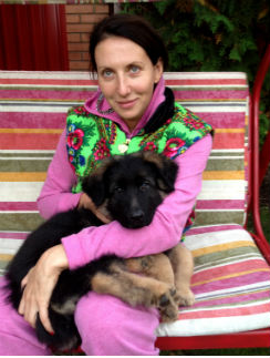 Алика Смехова со своим новым питомцем