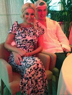 Лера Кудрявцева с женихом Игорем Макаровым