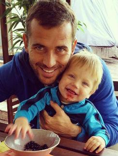 Александр Кержаков с сыном Игорем