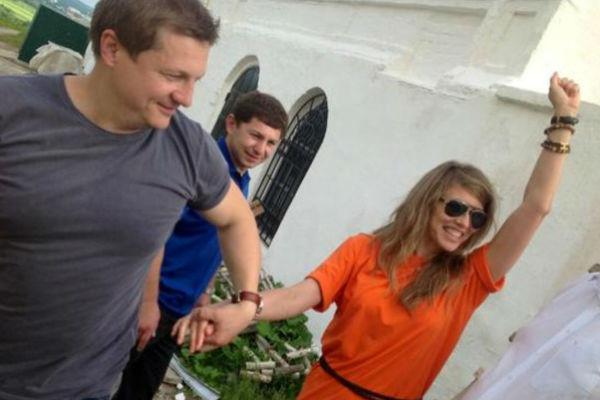 Павел Усанов и его супруга Юлиана