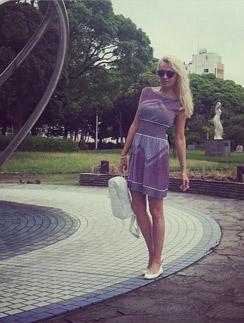 Яна Рудковская в Японии