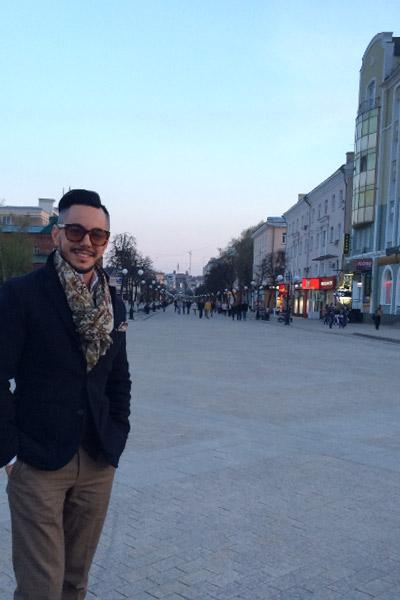 Родригез на улицах родной Пензы
