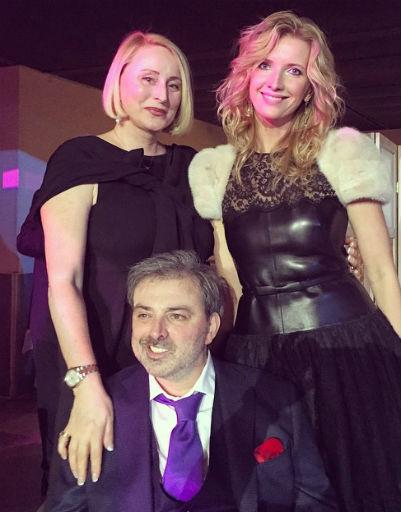 Борис Краснов с женой Евгенией и Виолой Сюткиной