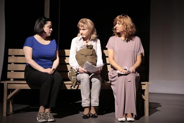 Валерия Аксенова репетирует с Ольгой Прокофьевой и Еленой Бирюковой