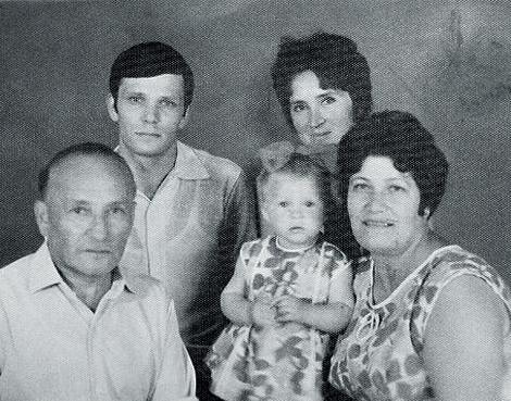 Маленькая Марина с семьей до развода родителей