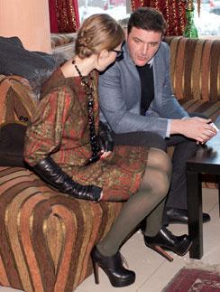 Первый совместный выход на премьере мультфильма «Снежная королева» в декабре 2012 года
