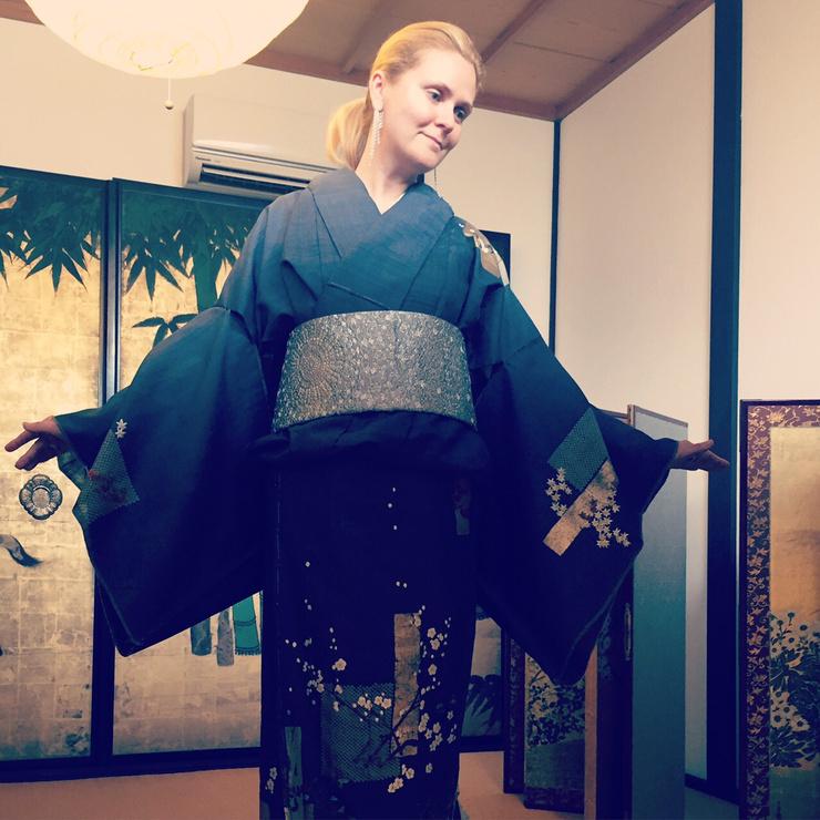 Наталья Шкулева в кимоно
