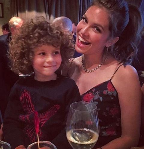 Даша Жукова с сыном Аароном