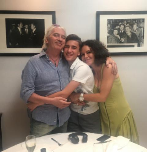 Дмитрий Хворостовский с сыном и женой