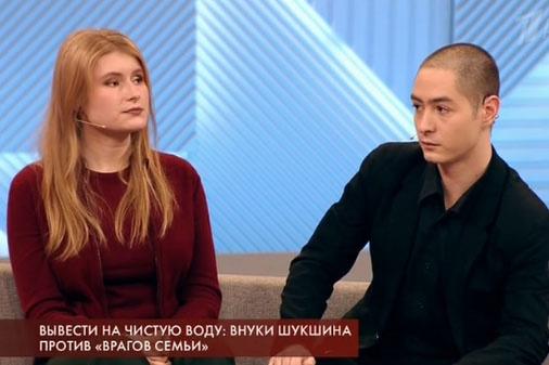 Анна, внучка Лидии Николаевны и Василий, внук актрисы